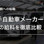 【期間工】主要自動車工場7社の給料を比較!転職するならどこがいい?